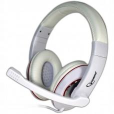 Гарнитура Gembird MHS-780 микрофон плюс стереонаушники - белые