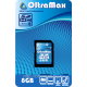Micro SD 8Gb OltraMax Class 6 с адаптером SD
